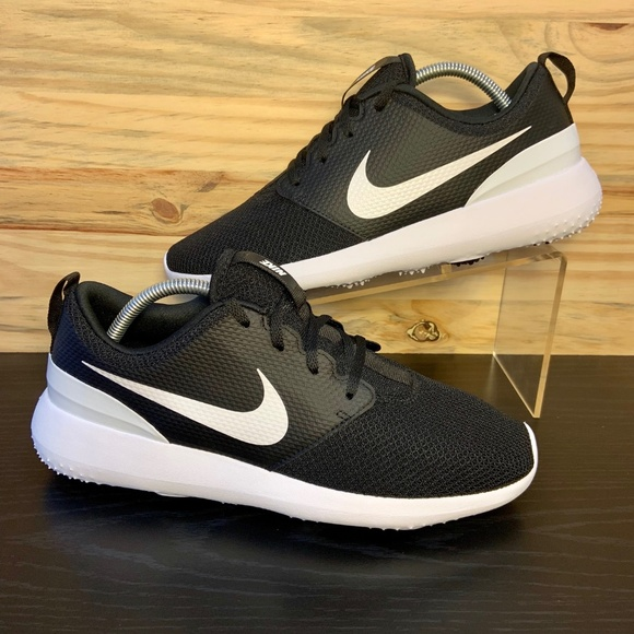 reputable site 7725e 785c5 New Nike Roshe Golf Shoes Men's Black White